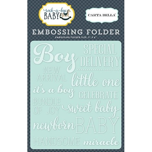 Ембосинг папка / папка за релеф - Carta Bella Embossing Folder Little One Boy (CBRBB64031)