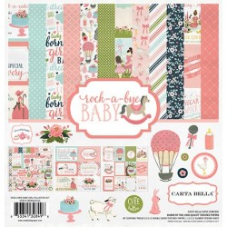 "Дизайнерски комплект 12"" х 12"" - Carta Bella Rock-a-Bye Girl 12x12 Inch Collection Kit (CBRBG63016)"