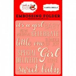 Ембосинг папка / папка за релеф - Carta Bella Embossing Folder Sweet Baby Girl (CBRBG63031)
