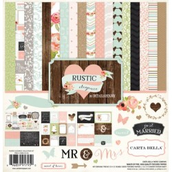 "Дизайнерски комплект 12"" х 12"" - Carta Bella Rustic Elegance 12x12 Inch Collection Kit (CBRE41016)"