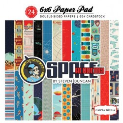 "Дизайнерско блокче 6"" х 6"" - Carta Bella Space Academy 6x6 Inch Paper Pad (CBSA61015)"