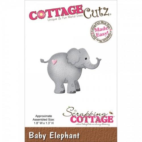Универсални метални щанци слонче - Scrapping Cottage CottageCutz Baby Elephant (CC-004)