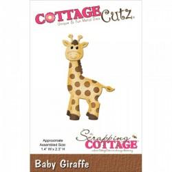 Универсални метални щанци жирафче - Scrapping Cottage CottageCutz Baby Giraffe (CC-005)