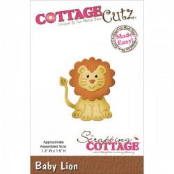 Универсални метални щанци лъвче - Scrapping Cottage CottageCutz Baby Lion (CC-008)