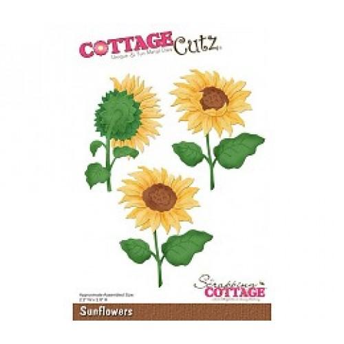 Универсална щанца за рязане и релеф слънчогледи - Scrapping Cottage CottageCutz Sunflowers (CC-091)