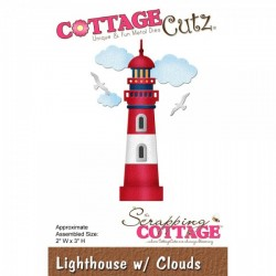 Универсални метални щанци морски фар с облаци  - Scrapping Cottage CottageCutz Lighthouse with Clouds (CC-113)