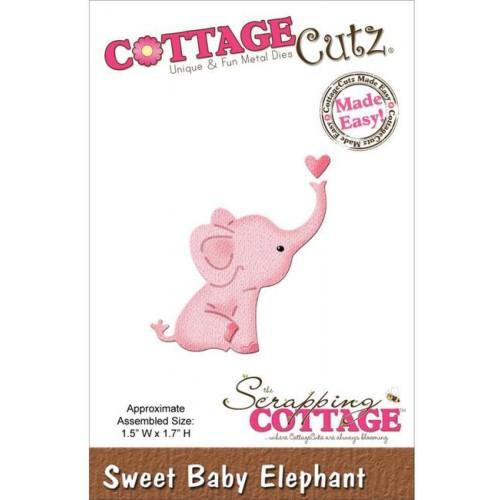 Универсални метални щанци слонче - Scrapping Cottage CottageCutz Sweet Baby Elephant Mini (CC-MINI-163)