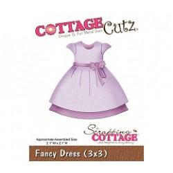 Универсална щанца за рязане и релеф  рокличка - Scrapping Cottage CottageCutz Fancy Dress (3x3) (CC3x3-103)