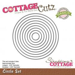 Универсална щанца за рязане и релеф - Scrapping Cottage CottageCutz Circle Set (Basics) (CCB-001)