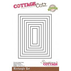 Универсална щанца за рязане и релеф - Scrapping Cottage CottageCutz Rectangle Set (Basics) (CCB-004)