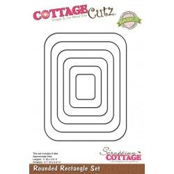 Универсална щанца за рязане и релеф - правоъгълни рамки със заоблени ъгли - Scrapping Cottage CottageCutz Rounded Rectangle Set (Basics) (CCB-005)