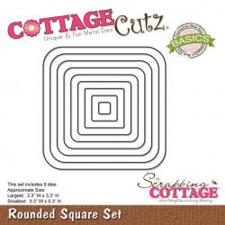 Универсална щанца за рязане и релеф - Scrapping Cottage CottageCutz Rounded Square Set (Basics) (CCB-006)