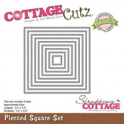 Универсална щанца за рязане и релеф - Scrapping Cottage CottageCutz Pierced Square Set (Basics) (CCB-026)