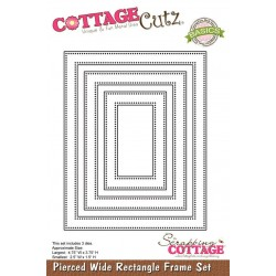 Универсална щанца за рязане и релеф - Scrapping Cottage CottageCutz Pierced Wide Rectangle Frame Set (Basics) (CCB-029)