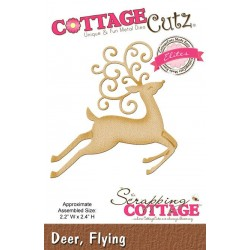 Универсална щанца за рязане и релеф - Scrapping Cottage CottageCutz Deer Flying (Elites) (CCE-170)