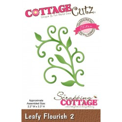 Универсална щанца за рязане и релеф - Scrapping Cottage CottageCutz Leafy Flourish 2 (CCE-403)