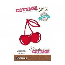 Универсална щанца за рязане и релеф череши - Scrapping Cottage CottageCutz Cherries (Petites) (CCP-012)