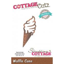Универсална щанца за рязане и релеф сладолед - Scrapping Cottage CottageCutz Waffle Cone (Petites) (CCP-035)