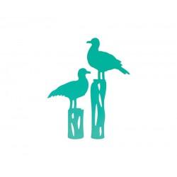 Универсална щанца за рязане и релеф гларуси - Couture Creations Seagulls At The Jetty Intricutz Dies (CO724687)
