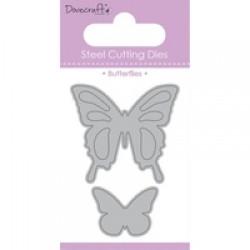 Тънка метална щанца пеперуди  - Dovecraft Die - Butterflies (DCDIE007)