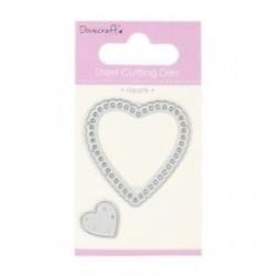 Тънка метална щанца сърца - Dovecraft Die - Hearts (DCDIE010)