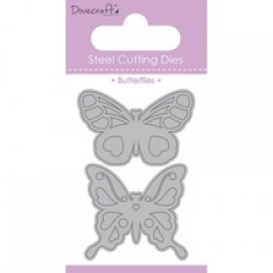 Тънка метална щанца 2бр. пеперуди - Dovecraft Die - Butterflies Duo (DCDIE037)