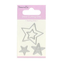 Тънка метална щанца звезди - Dovecraft Die - Nesting Stars (DCDIE073)