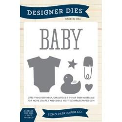 Универсална щанца за рязане и релеф бебешки комплект - Echo Park Bundle Of Joy Designer Dies (EPPDIE40)