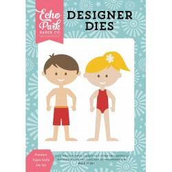 Универсални щанци за рязане и релеф момиче и момче с бански - Echo Park Summer Paper Dolls Designer Dies (HS105042)