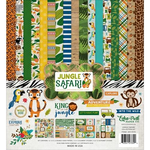 "Дизйнерски комлект 12"" х 12"" - Echo Park Jungle Safari 12x12 Inch Collection Kit (JS117016)"