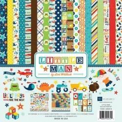 "Дизйнерски комлект 12"" х 12"" - Echo Park Little Man 12x12 Inch Collection Kit (LM99016)"