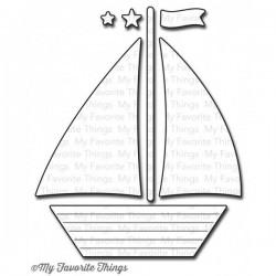 Тънка метална щанца лодка - My Favorite Things Die-namics Sailboat (MFT-439)