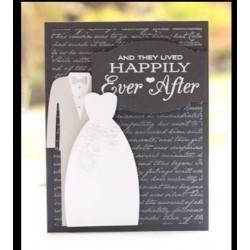 Тънка метална щанца булка и младоженец - My Favorite Things Die-namics Bride & Groom (MFT-492)