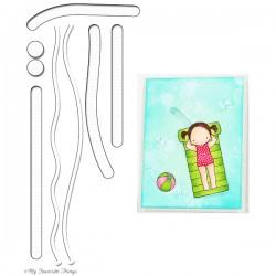 Тънка метална щанца / прорези за картички с движещи се елементи - My Favorite Things Die-Namics Surf & Turf (MFT-899)