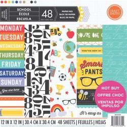 "Дизайнерско блокче училище 12"" х 12"" - Craft Smith School 12x12 Inch Paper Pad (MPP0059)"