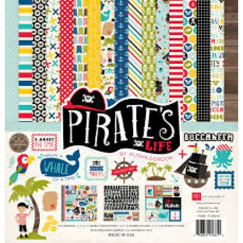 "Дизйнерски комлект 12"" х 12"" - Echo Park Pirates Life 12x12 Inch Collection Kit (PL89016)"
