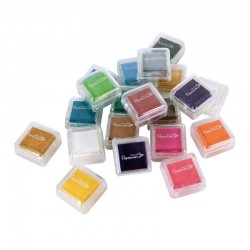 Комплект от 20 мини мастила - асорте - Papermania Mini Ink Pads Dye Based (20pk) - Assorted Colours (PMA 5521101)
