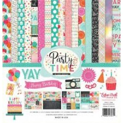 "Дизйнерски комлект 12"" х 12"" - Echo Park Party Time 12x12 Inch Collection Kit (PT108016)"