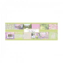 "Дизайнерски листи 12"" х 12"", 190гр. - ScrapBerry's In Bloom Paper Set 12x12 Inch 190gms One-sided (12 Sheets Per Pack) (SCB220608800b)"