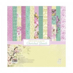 "Дизайнерски листи 12"" х 12"" - ScrapBerry's Cherished Jewels Paper Set 12x12 Inch (14 Sheets Per Pack) (SCB220612000bx)"