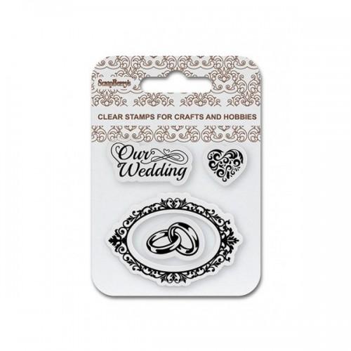 Комплект от силиконови печати  - ScrapBerry's Set Of Clear Stamps 7x7 cm Our Wedding (SCB4907083)
