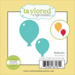 Универсални метални щанци балони - Taylored Expressions Little Bits Balloons (TE414)