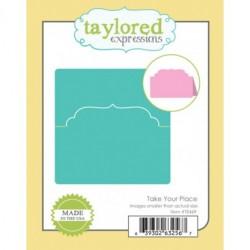 Универсална щанца за рязане и релеф тейбъл картичка - Taylored Expressions Take Your Place (TE469)
