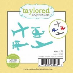 Универсални метални щанци самолети и хеликоптери - Taylored Expressions Little Bits - Aircraft (TE590)