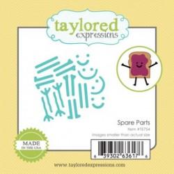 Универсална щанца за рязане и релеф - Taylored Expressions Little Bits - Spare Parts (TE754)
