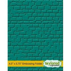 Папка за релеф / ембосинг папка с тухли - Taylored Expressions Brick Embossing Folder (TEEF18)