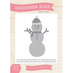 Универсална щанца за рязане и релеф снежен човек - Echo Park Snowman Set Designer Dies (TSC94041)