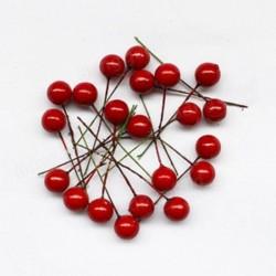Декоративни червени топчета - 24бр.