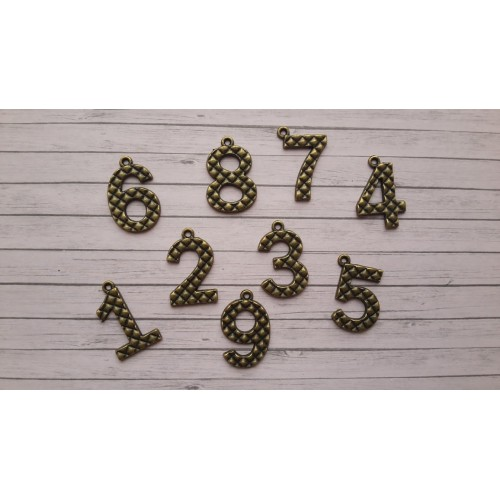 Цифри бронз - 1-9, - 2.2см