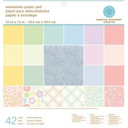 Дизайнерски листи - Martha Stewart - Pastels 12X12 Mixed Papers 42 sheets